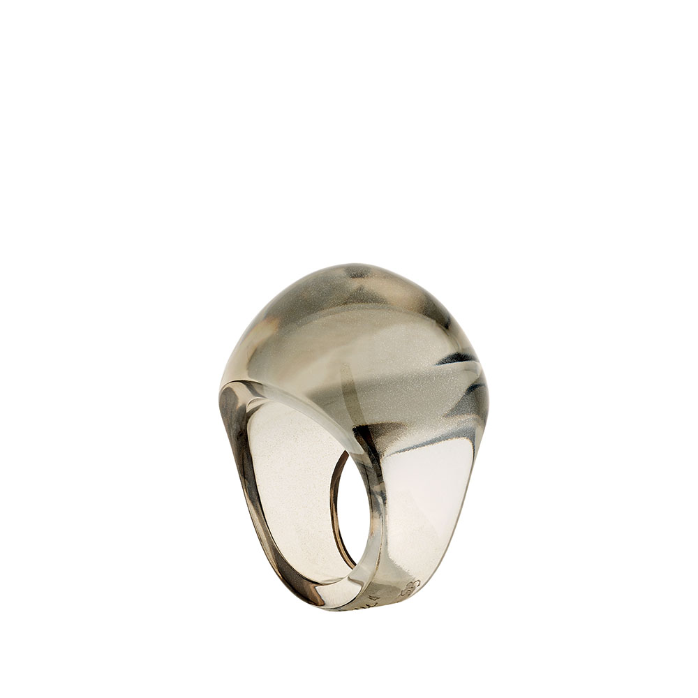 Cabochon ring   Bronze crystal   Costume jewellery Lalique