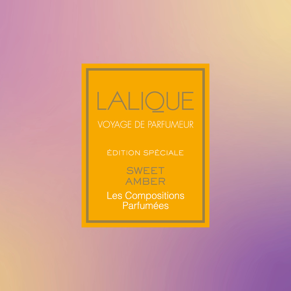 Les compositions parfumées, Sweet Amber, Scented Candle